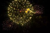 image of salute  - Fireworks salute in honor of 70th anniversary of Victory Day in Moscow - JPG