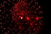 foto of salute  - Fireworks salute in honor of 70th anniversary of Victory Day in Moscow - JPG