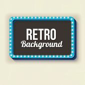 Постер, плакат: Night retro background with lights