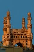 picture of charminar  - side view of the famous charminar building in hyderabad india - JPG