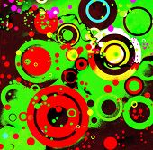 Circles Abstract Grunge