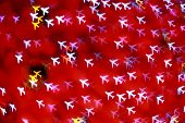 Defocused Airplane Background (bokeh)
