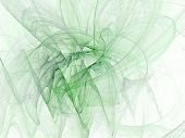 Green Soft Abstract poster