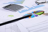 stock photo of marketing plan  - Charts and graphs of sales  - JPG