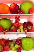 Fridge With Fresh Fruit
