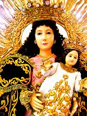 foto of divine mercy  - spiritual icon mother and child asia parade isolated spiritual  - JPG
