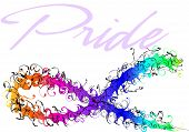 Gay Pride Awareness Ribbon