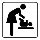 Постер, плакат: Mother Room Sign