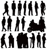 Police Silhouettes Collection