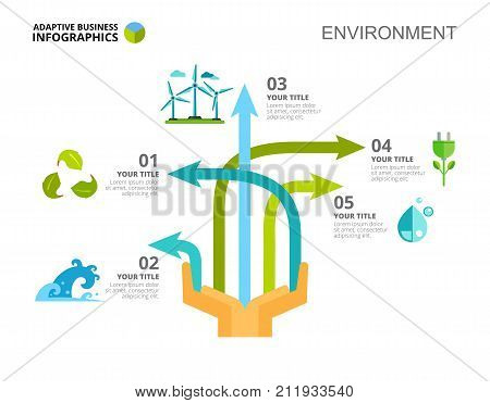 Arrow diagram  Option chart, graph, layout  Creative concept for  infographics, presentation, project  Can be used for topics like ecology,  electric