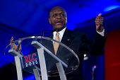 NEW ORLEANS, LA - JUNE 17: Presidential candidate Herman Cain addresses the Republican Leadership Co