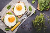 Healthy Fried Egg Sandwich poster