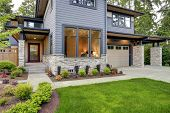Luxurious Home Design With Modern Curb Appeal In Bellevue. poster
