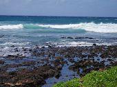 Kauai Lava Rock Beach