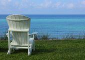 Adirondack Beach Chair With Ocean View
