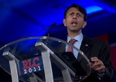 NEW ORLEANS, LA - JUNE 17: Louisiana Governor Bobby Jindal addresses the Republican Leadership Conference on June 17, 2011 at the Hilton Riverside New Orleans in New Orleans, LA.