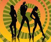 Постер, плакат: Танцующих девушек