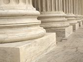 stock photo of supreme court  - Columns at the United States Supreme Court in Washington DC - JPG