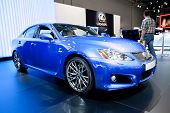 Moscow, Russia - August 25: Blue Car Lexus Is F At Moscow International Exhibition Interauto On Augu
