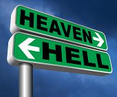 heaven or hell devils and angels salvation from evil save your soul and spirit search and find Jesus poster