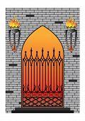 Forged Iron Gothic Window