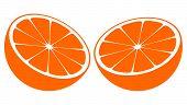 Orange Bisected In Half