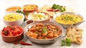 assorted indian curry and dish poster