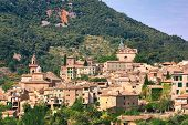image of chopin  - The view over the medieval village of Valldemossa located on the island of Mallorca in Spain - JPG