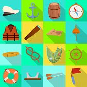 Isolated Object Of Journey And Seafaring Logo. Collection Of Journey And Vintage Vector Icon For Sto poster