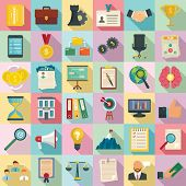 Corporate Governance Icons Set. Flat Set Of Corporate Governance Icons For Web Design poster