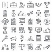 Corporate Governance Training Icons Set. Outline Set Of Corporate Governance Training Icons For Web  poster