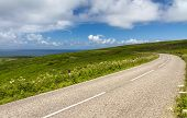 foto of st ives  - Winding road between Lands End and St - JPG