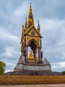 Albert Memorial In Londons Hyde Park. Prince Albert Memorial, Gothic Memorial To Prince Albert In Lo poster
