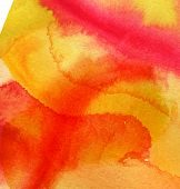Bright Colorful Abstract Illustration Background Of Autumn, Fall, Orange, Yellow, Blue, Green. Water poster