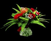 Bouquet of gerberas, roses and chrysanthemums