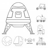 Isolated Object Of Mars And Space Icon. Collection Of Mars And Planet Stock Symbol For Web. poster