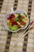 Spicy Peking Cabbage - Lenten Cabbage Salad, Paprika, Chili - Chinese Cuisine poster