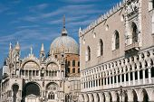 Saint Mark Basilica And Doges Palace In Venice