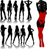 stock photo of stripper shoes  - woman silhouettes 7 - JPG