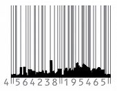 Urban concept with barcode