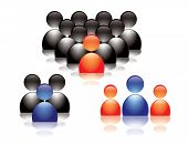 stock photo of people icon  - People icons - JPG