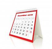 2010 december calendar in editable vector format