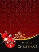 Vintage Christmas greeting in editable vector format