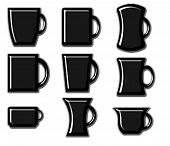 Coleção de caneca de café