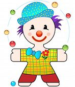 vector illustration of a nice funny clown