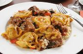 Braised Beef Tips With Tortellini