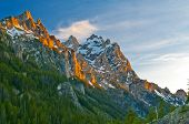 Grand Tetons At Sunset poster