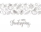 Happy Thanksgiving Day Greeting Card Template. Thanksgiving Poster With Roasted Turkey, Pumpkin Pie  poster