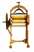 image of olden days  - Very old mangle used for wringing out wet washing in olden days - JPG