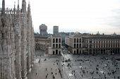 Aerial View Of Piazza Del Duomo - Milan